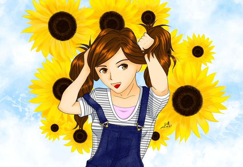 夏日-插畫